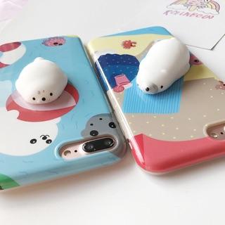 海獅 北極熊 QQ手感 舒壓手機殼 iPhone 6S 7
