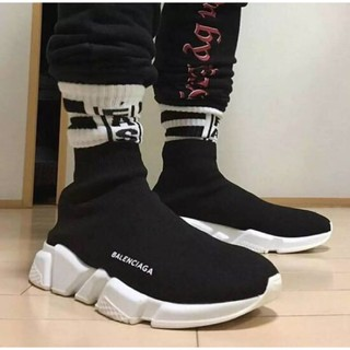 GD上腳款 Balenciaga 襪套 長筒編織 BALENCIAGA SPEED TRAINER 黑色 GD著用款
