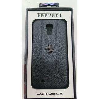 法拉利 Samsung S4/i9500 真皮背蓋/保護套/背殼 黑