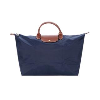 Longchamp 折疊大型水餃旅行包 深藍