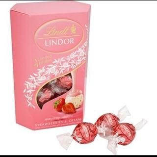 期間限定二送一片士蓮Lindt Lindor 軟心草莓牛奶巧克力