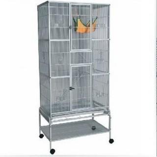 【美好家居】鳥籠大號 繁殖籠 黑色大型鸚鵡籠 群鳥籠 可外掛繁殖箱