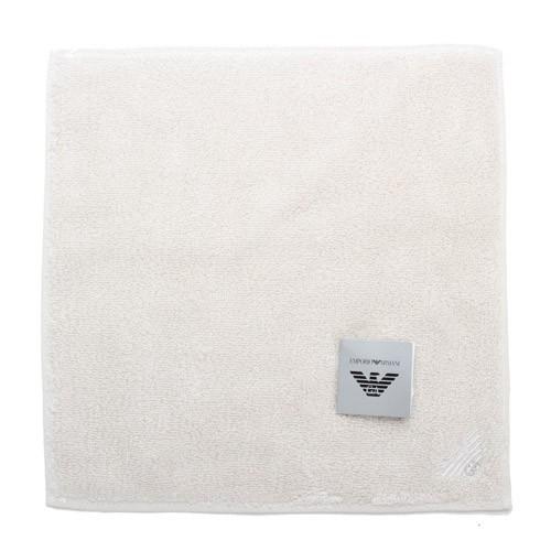 Emporio Armani 素面棉質方巾(米色)
