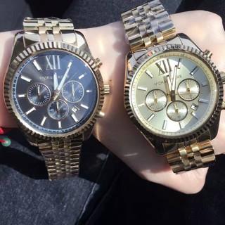 MK系列男士手錶 Michael kors璀璨 三眼錶盤三眼計時腕錶/MK正品手錶