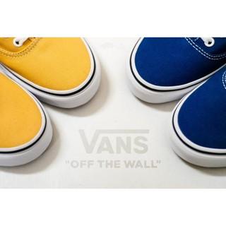 Vans era Authentic 海軍藍 黃色 情侶 經典基本款 男女鞋 VN0A38EMQA0