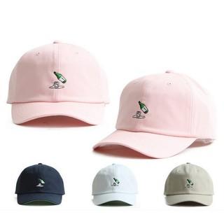 韓國正品女生棒球帽清新可愛粉色遮陽帽燒酒刺繡彎檐鴨舌帽太陽帽