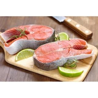 【山河 海の物】挪威 國王 鮭魚 帝王鮭 切片 清蒸 燒烤 乾煎 400g±10%/片 宅配 台中 面交 自取