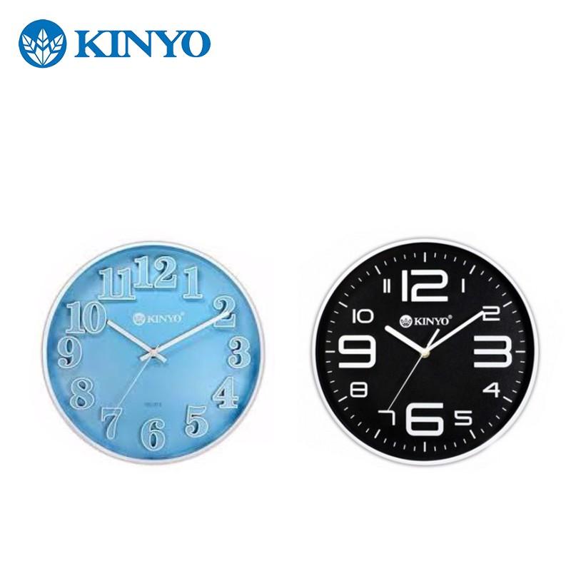 KINYO 耐嘉 立體數字 掛鐘 時鐘 電子鐘 弔鐘 現代風 靜音掃描機芯(CL-122 124) 【24H出貨】