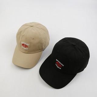 ~帽帽屋~ 椰子樹圖案刺繡原宿風棒球帽休閒 百搭防曬帽子遮陽帽嘻哈帽街舞帽老帽彎沿