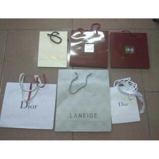 名牌紙袋 Dior /sk-ll/laneige蘭芝/sulwhasoo