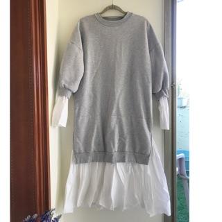 內刷毛拼接衛衣洋裝