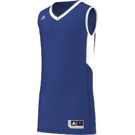 Adidas TEAM JERS 15 男裝 短袖 背心 藍球 健身 藍【運動世界】AC2171