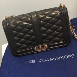 Rebecca minkoff love 菱格紋氣質經典鏈包
