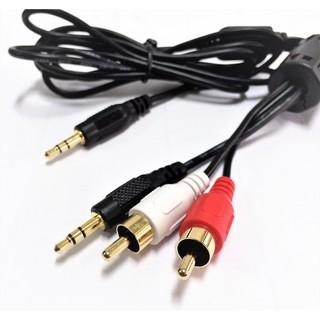 『正典UCHI電子』AV音源轉換線 3.5mm音源線 1對3 梅花端子 耳機轉AV 防磁雜訊