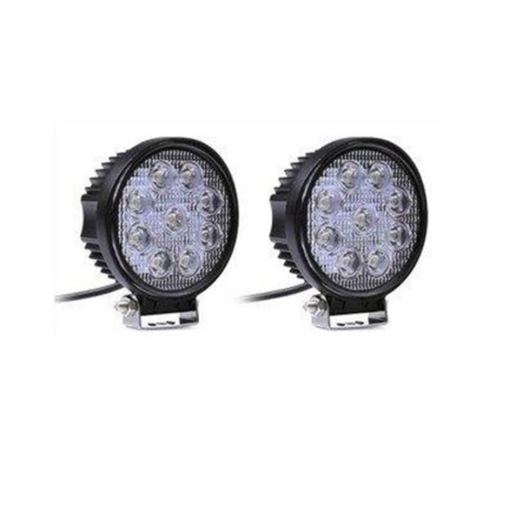 27W LED工作燈 保證亮(白光聚光)12V 24V LED燈 霧燈 日行燈 探照燈 怪手 貨車露營燈 手提燈非48W