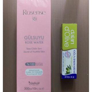 【特價】土耳其__Rosense大馬士革純天然玫瑰水300ml 、Dalan 橄欖滋養護手乳 20ml