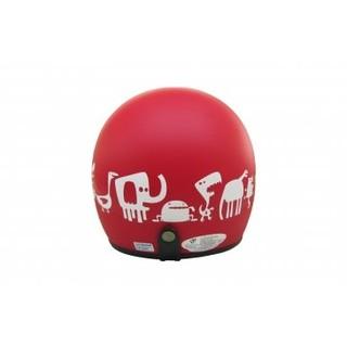 【安全帽先生】EVO CA-309 CA309 Monster Zoo 動物園 消光紅 半罩 復古帽 安全帽