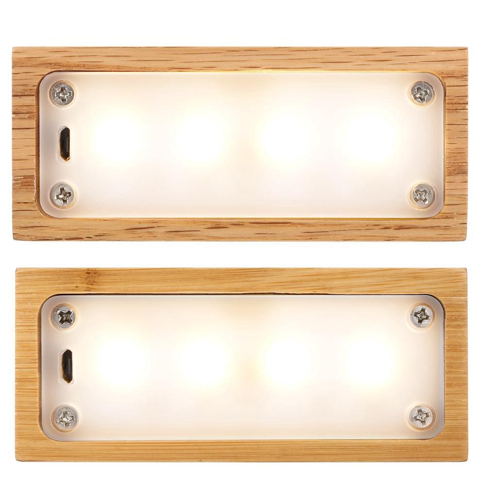 Rolan USB可充電LED檯燈夜燈觸摸開關矩形