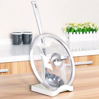 【軒絜居家】現貨 小清新立式湯杓鍋蓋架廚房收納架