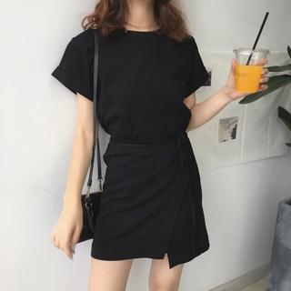 好評韓國設計感T-shirt式連身裙