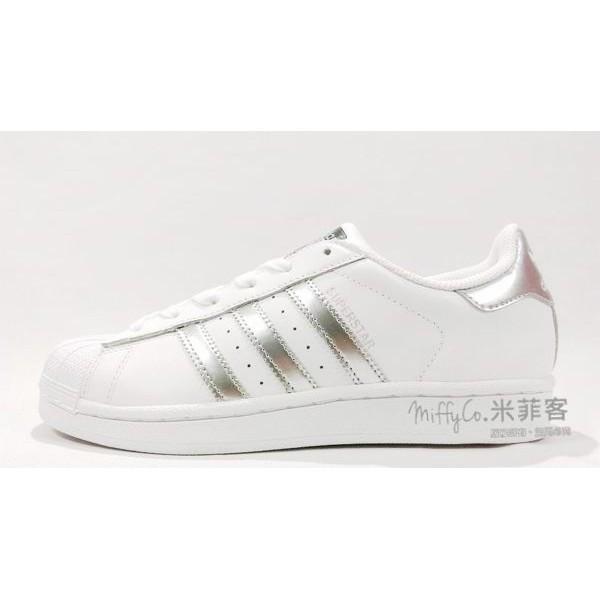Adidas 米菲客 Superstar AQ3091 銀線銀標 復刻復古 貝殼頭 海外限定款