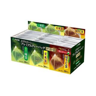 預購 日本 伊藤園 立體綜合茶包60包 綠茶 / 玄米茶 / 焙茶