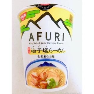日本阿夫利/日淸柚子鹽拉麵的泡麵杯