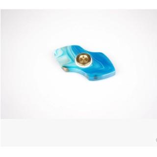 指尖陀螺手指間螺旋 藍瑪瑙寶石成人減壓玩具 SKF陶瓷軸承 送禮
