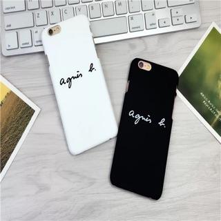 翻玩手機殼磨砂 手感一流I Phone6 6S PLUS 手機保護殼agnes b