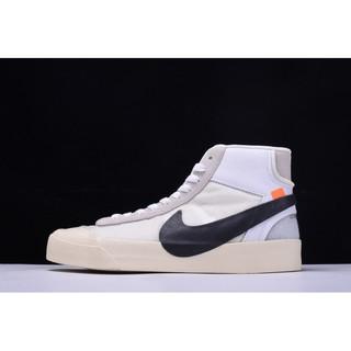 OFF WHITE x Nike Blazer Studio MID 開拓者休閒板鞋 男女鞋 AA3832 100