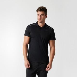 ADIDAS  climacool系列 男款POLO衫-黑 AJ5519