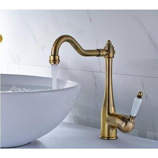 青古銅 陶瓷手柄 冷熱水 水龍頭 廚房水龍頭 浴室 面盆水龍頭