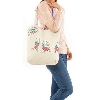 日本迪士尼愛麗絲夢遊仙鏡 Alice 牡蠣寶寶 柴郡貓 妙妙貓 雙面 側背包 購物袋