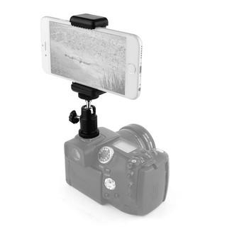 熱靴手機架 手機夾座  球型雲台熱靴座 1/4螺牙轉換座 直上單眼 單眼手機架 縮時攝影 單眼相機手機架