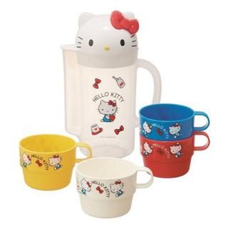 ☄️現貨☄️凱蒂貓 HELLO KITTY 塑膠冷水壺+4入水杯