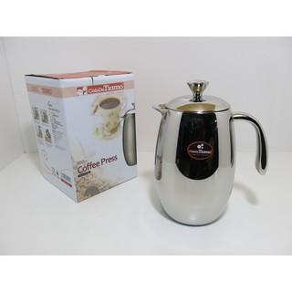 Tiamo哥倫比亞不銹鋼雙層濾壓咖啡壺-800CC (HA1536) /沖茶壺/咖啡濾壓壺/咖啡器具/