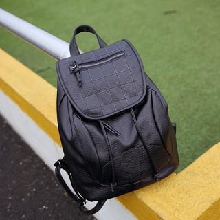 旅行時尚皮革後背包 百搭 學生 書包 韓版 休閒背包 雙肩包