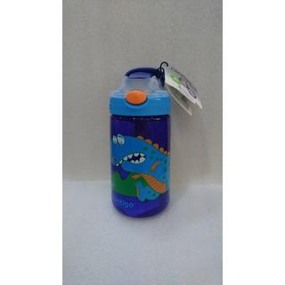 兒童水壺吸管瓶415cc (寶藍恐龍)
