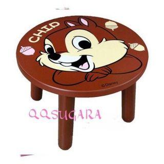 迪士尼 奇奇 矮凳椅《深棕.大臉.松果.圓形》圓凳.木頭椅