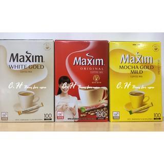出貨!韓國MAXIM 三合一咖啡原味摩卡白金20 入100 入即溶咖啡 送禮