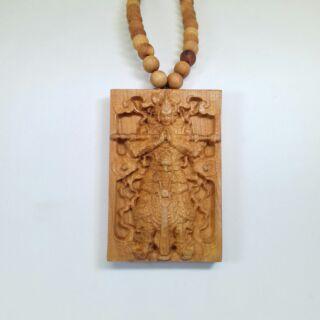 崖柏韋馱菩薩 掛飾 項鍊