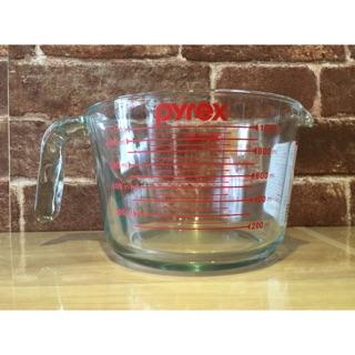 【魔法櫥櫃】百麗/PYREX/耐熱玻璃/1000ML量杯/紅色字/經典款/跟實驗用燒杯同材質