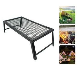 居家露營戶外 摺疊鐵桌 燒烤邊桌 黑鐵桌 摺疊小桌
