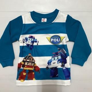『乖寶寶童裝』韓版童裝 百元童裝 小童 Poli波利內刷不倒絨上衣%23(藍)平價童裝