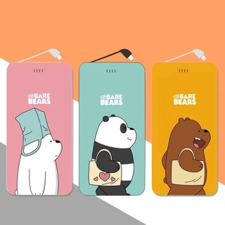 熊熊遇見你行動電源 行動充 移動電源 the Bare bears