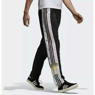 Adidas 復古排扣 拼接 男女同款休閒褲