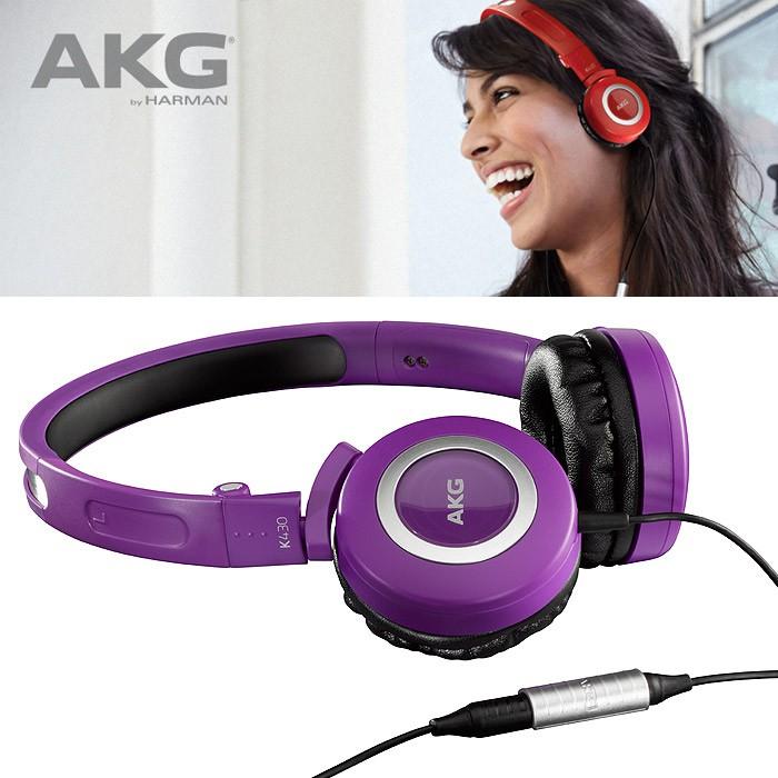 【AKG公司貨】AKG Mini耳罩系列K430紫色