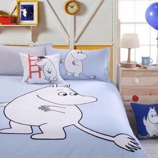 ❄️現貨 嚕嚕米 Moomin 雙人純棉床罩組 床包四件組 床單 棉被套 枕頭套