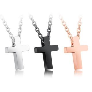 ~316 小舖~~F83 ~316L 鈦鋼項鍊聖者玫瑰金十字架項鍊單件價精鋼十字架項鍊鋼十