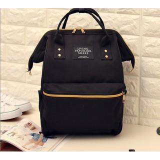 日本樂天anello背包雙肩包女男大容量電腦背包學院風純色學生書包